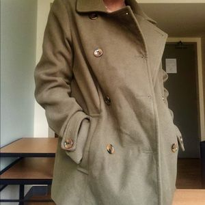 Olive Green Trench/Winter Coat